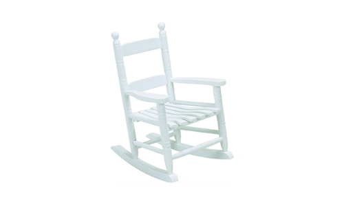 Jack-Post presents Child's Classic Porch Rocking Chair KN-10W, White