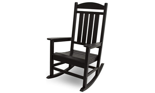 Presidential Outdoor Rocking Chair R100BL, Black by POLYWOOD