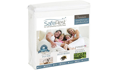 SafeRest presents Premium Quality Hypoallergenic Mattress Protector TWIN Size