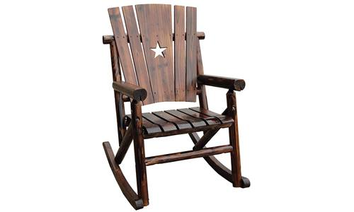 Leigh Country presents Char-Log Single Rocker Chair with Star