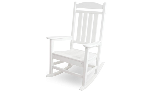 POLYWOOD presents Presidential Outdoor Rocking Chair R100WH, White