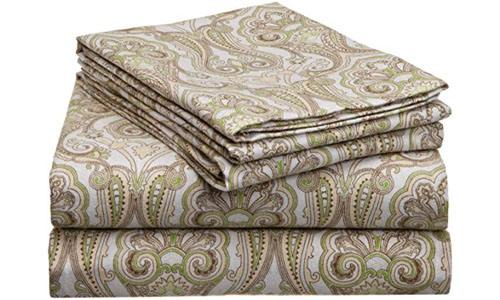 Pointehaven Printed Flannel Sheet Set