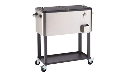 Trinity TXK- 0802 stainless steel cooler with shelf