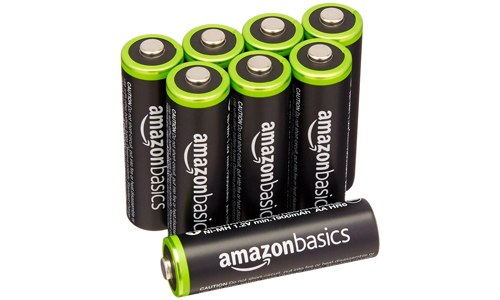AmazonBasics AA rechargeable batteries- eight pack