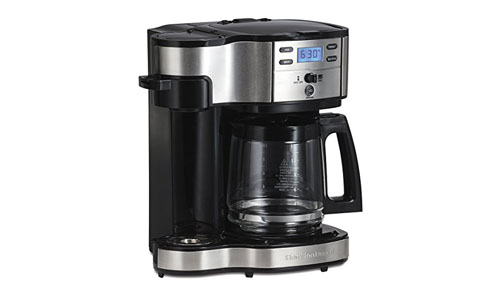 Hamilton Beach Programmable 12-Cup Single Serve Stainless Steel Coffee Maker (49980A)