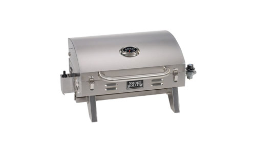 Smoke Hollow 205 Stainless Steel Tabletop Propane Gas Grill, Perfect for tailgating, camping or any outdoor event