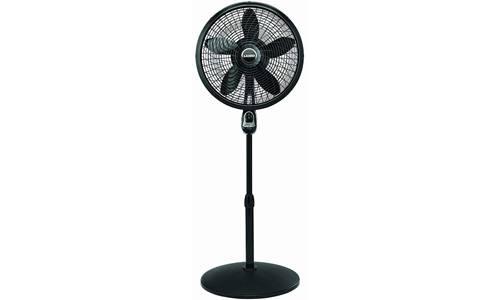 Lasko 1843 Remote Control Cyclone Pedestal Fan, 18-Inch, Black