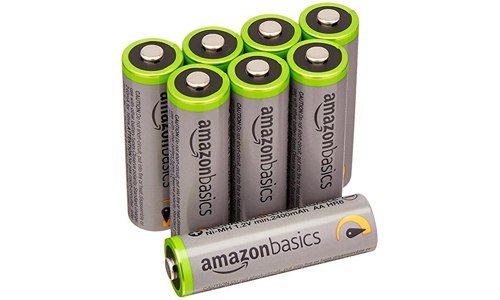AA high capacity rechargeable batteries – a pack of eight