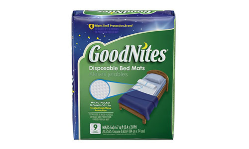 GoodNites presents Pack of 36 Disposable Bed Mats