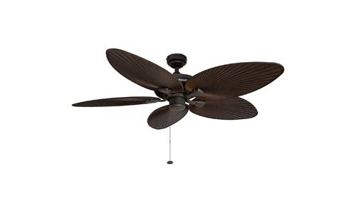 Honeywell Ceiling Fans presents 52-inch Palm Island Damp Rated Tropical Ceiling Fan, 5 Palm Leaf Blades, Bronze