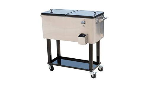 Outsunny rolling ice chest