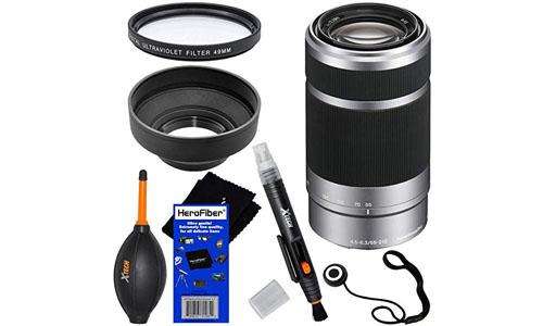 HeroFiber : Sony E 55-210mm f/4.5-6.3 OSS E-Mount Telephoto Zoom Lens - Silver - International Version.