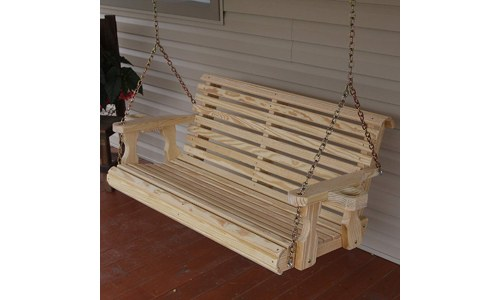 Café Roll Back Treated Porch Swing