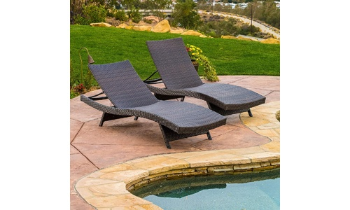 Christopher Knight Outdoor Adjustable Chaise Lounge Chair