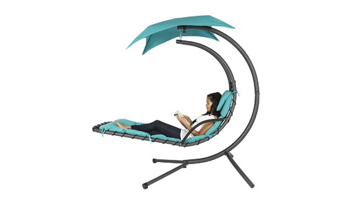 Hanging Chaise Lounge Chair By Best Choice Products