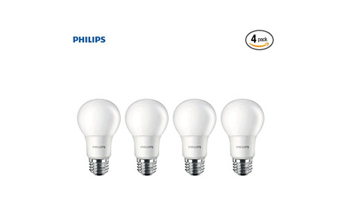 Philips 455717 LED Non-Dimmable A19 Frosted Light Bulb