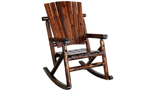 Natural Organic Char-Log Wood Single Rocker TX93860 by United General Supply