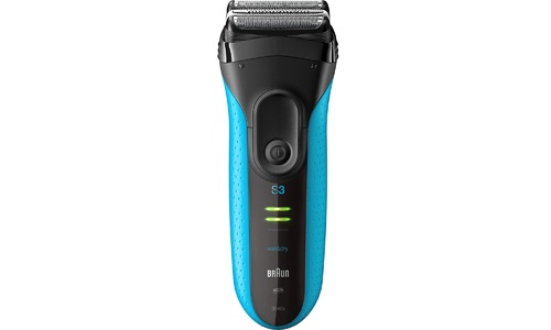 BRAUN presents Series 3 ProSkin Men's Electric Foil Shaver/Razor 3040S, Wet and Dry, BLUE