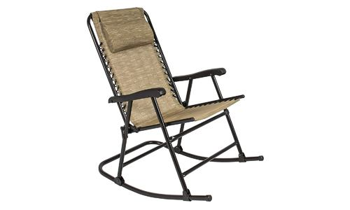 Best Choice Products presents Foldable Outdoor Patio Rocking Chair, Beige