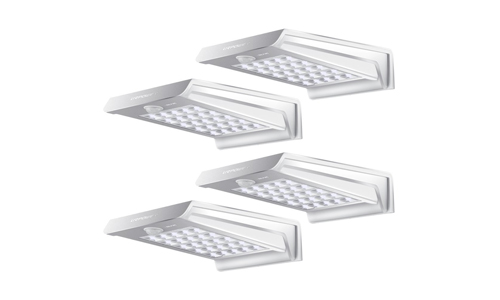 URPOWER presents Pack of 4 Outdoor Solar Motion Sensor 20 LED lights