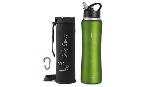 Swig Savvy Insulated Water Bottle.