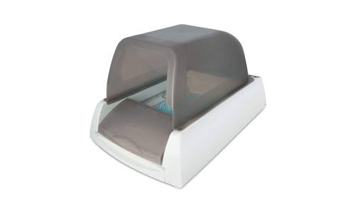 PetSafe presents ScoopFree ULTRA  Taupe Self-Cleaning Cat Litter Box with a Disposable Tray