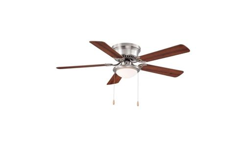 Hampton Bay presents 52-inch Hugger Ceiling Fan with Brushed Nicked Construction