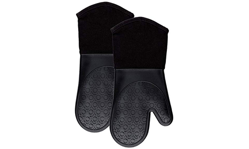 HOMWE Silicone Oven Mitts Black