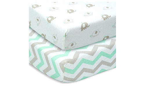CUDDLY CUBS Jersey Cotton Crib Sheets