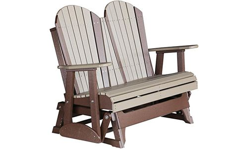High Quality 4ft Adirondack Glider Chair Bench made from Recycled Plastic by LuxCraft