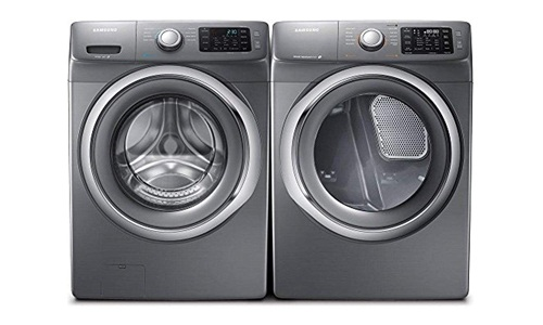 SAMSUNG presents WF42H5200AP Front Load Washer and DV42H5200EP Electric Dryer