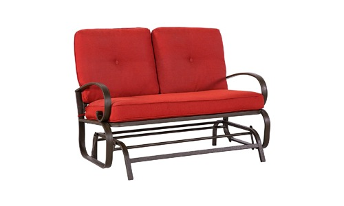 Cloud Mountain Patio Glider Loveseat