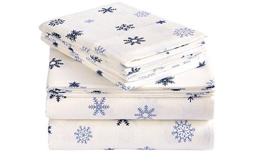 Pinzon Snowflake Flannel Sheet Set