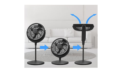 Energy Efficient Pedestal 12-inch Quiet 3 speed Floor Fan Adjustable Height