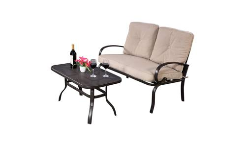 Giantex Patio Outdoor LoveSeat Set
