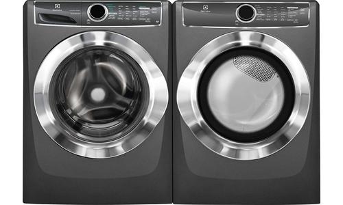 Electrolux presents 4.4 Cu. Ft. Perfect Steam Washer EFLS617STT and 8 cu. Ft. Front Load Gas Dryer EFMG617STT, Titanium
