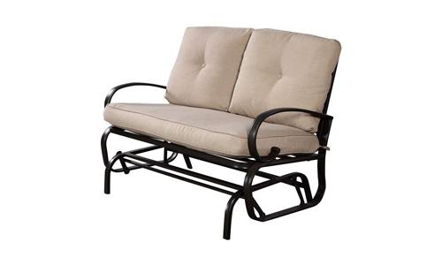 Giantex Outdoor Rocking Bench Glider Loveseat