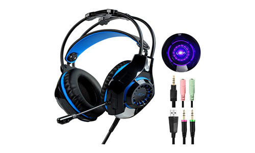 Over-Ear Stereo Bass Gaming Headphones with Microphone Headset