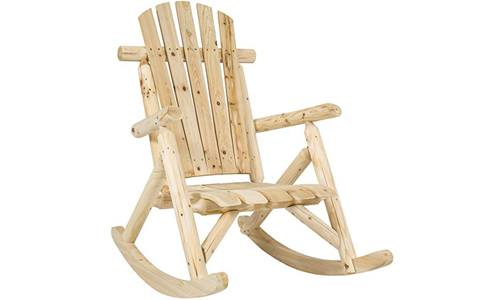 Hardwood Premium Quality Log Rocking Chair Single Rocker