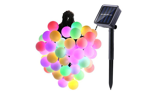 LUCKLED Globe Solar String Lights
