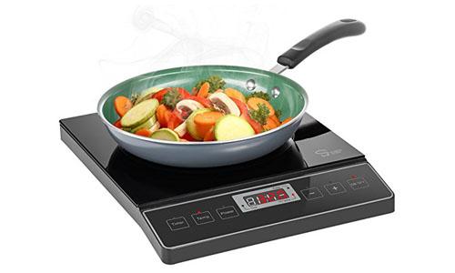 Chef's Star 1800W Portable Induction Cooktop Countertop Burner - 120V/60Hz - Black