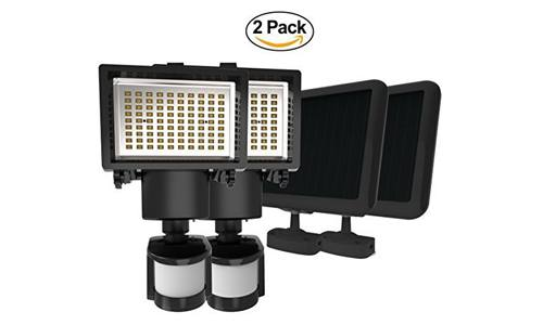 LAMPAT presents Solar Powered 90 LED Security Lights (Pack of 2)