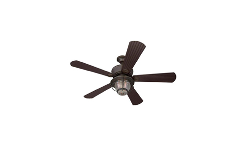 Harbor Breeze presents 52-inch Merrimack Indoor/Outdoor Antique Bronze Ceiling Fan with Remote