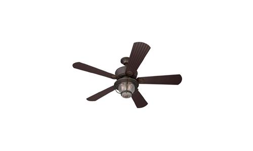 Harbor Breeze presents 52-inch Merrimack Indoor/Outdoor Antique Bronze Ceiling Fan with Remote
