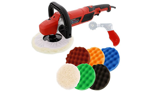 TCP Global high performance variable speed polisher with a six pad buffing and polishing kit