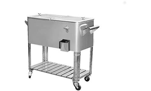 sunjoy stainless steel patio cooler