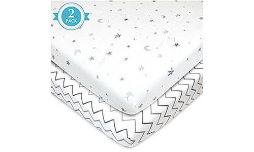 American Baby Company Fitted Portable or Mini-Crib Sheet