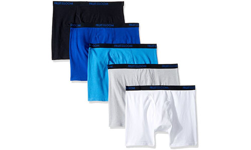 Fruit of the Loom Boys Boxer Brief Breathable 5 Pack Underwear