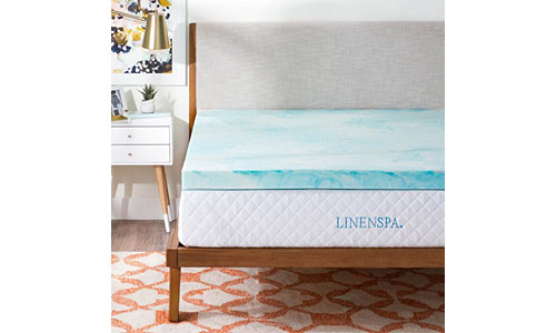 Linenspa 3 Inch Gel Memory Foam Topper-Full