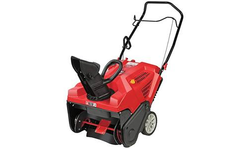 Troy-Bilt Squall 179ccElectric Start 21-Inch Single Stage Gas Snow Thrower.